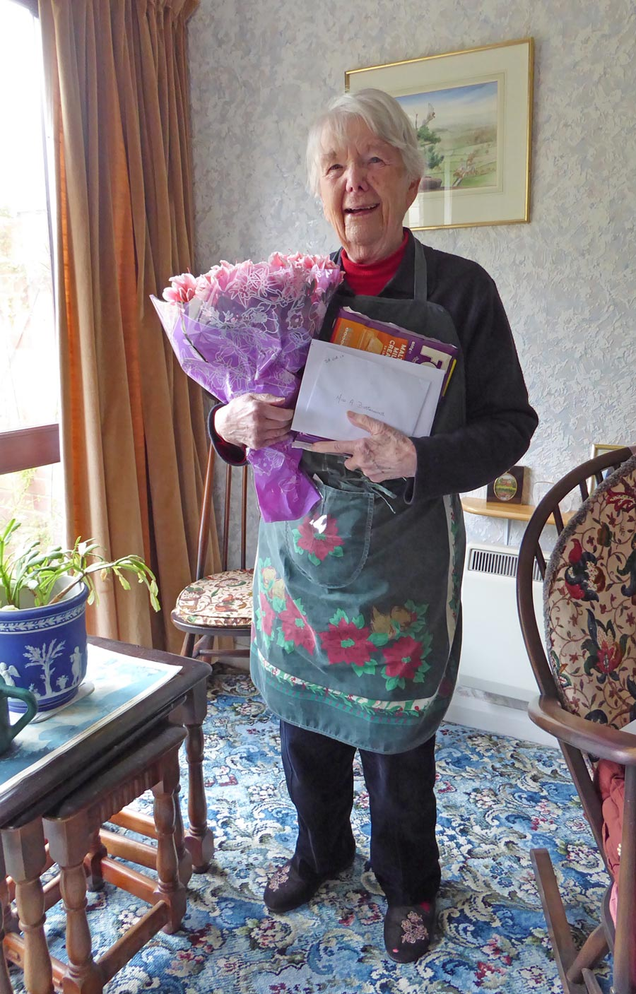 Anne Butterworth on her 90th Birthday