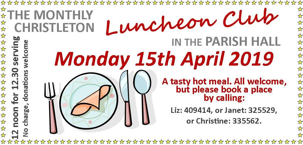 Christleton Luncheon Club April 2019