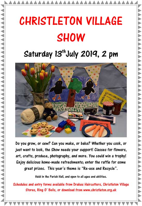 Christleton Village Show 2019 Poster