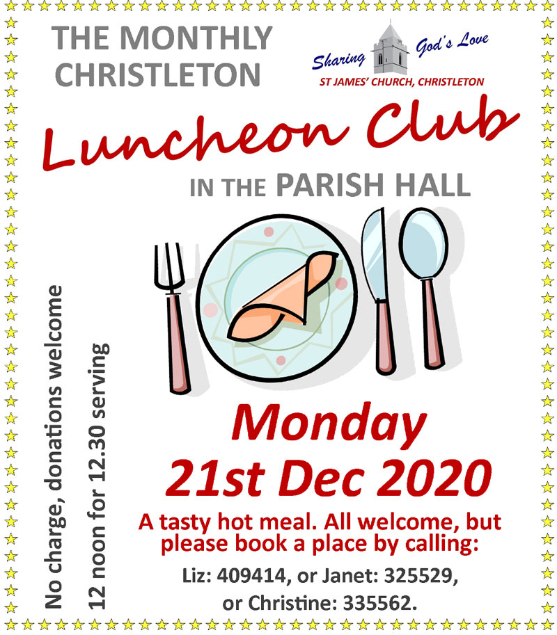 Luncheon December 20th