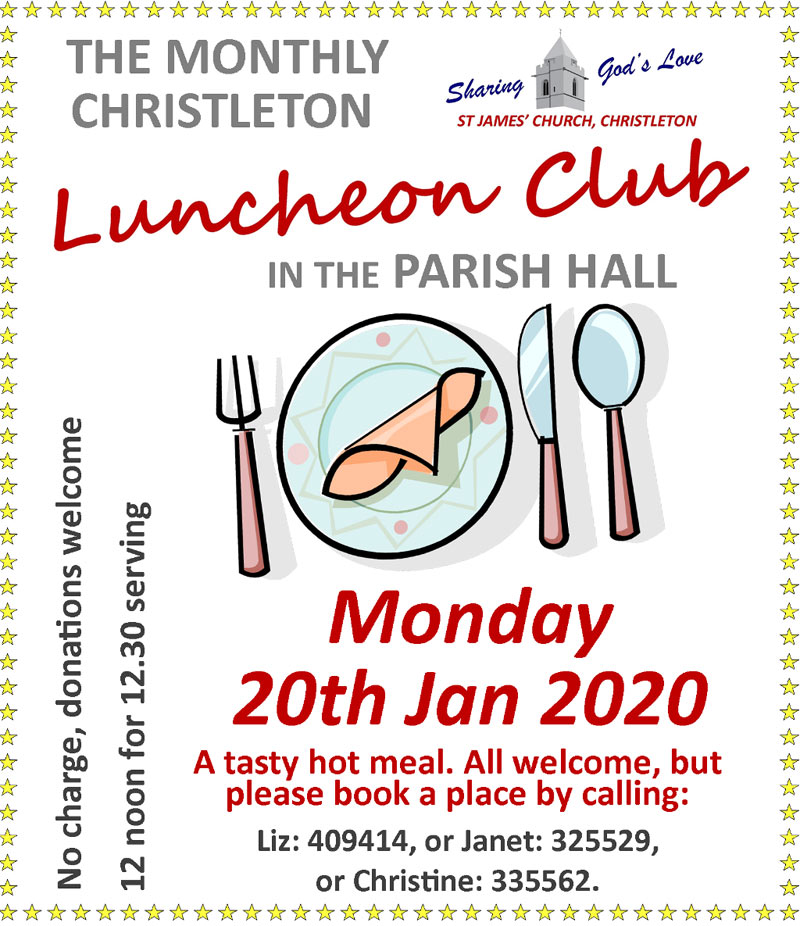Lunch 20th January