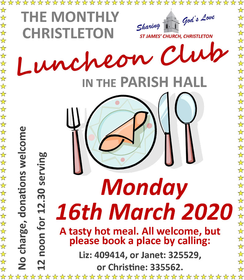 Lunch March 16th