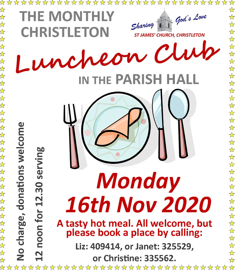 Luncheon November 16th