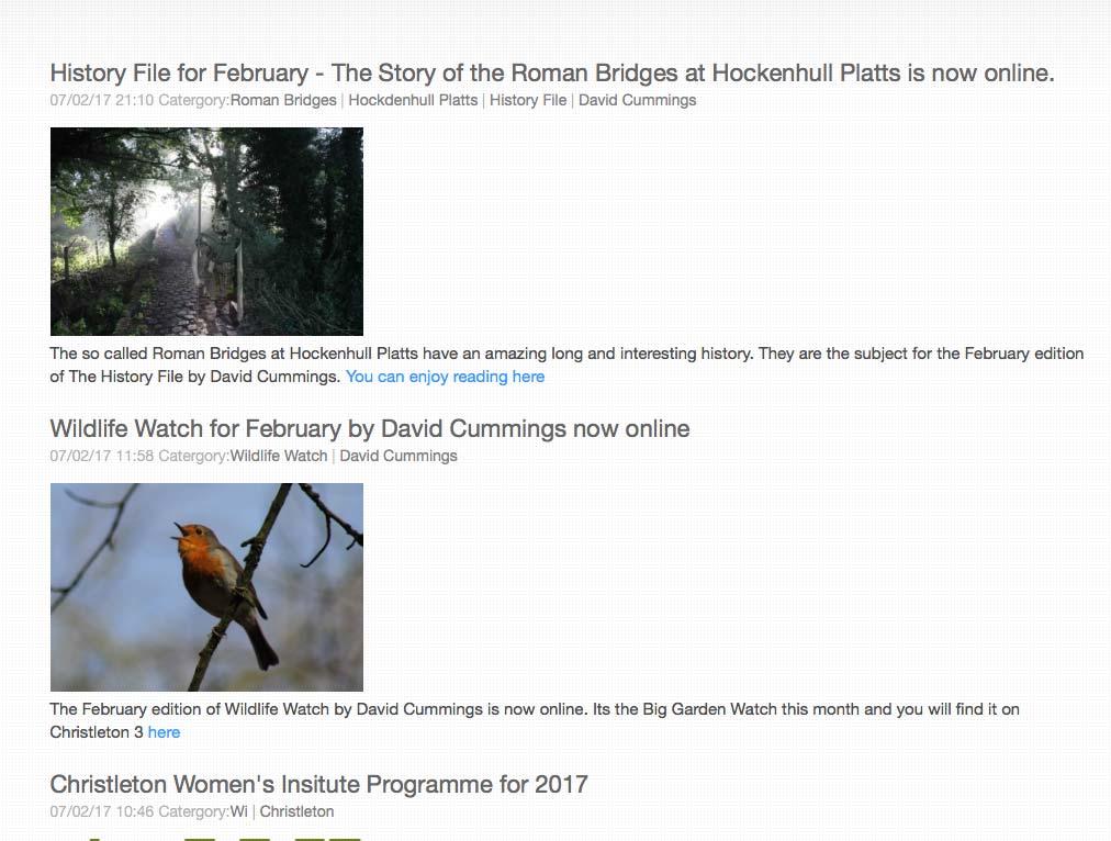 New Blog from Christletonb