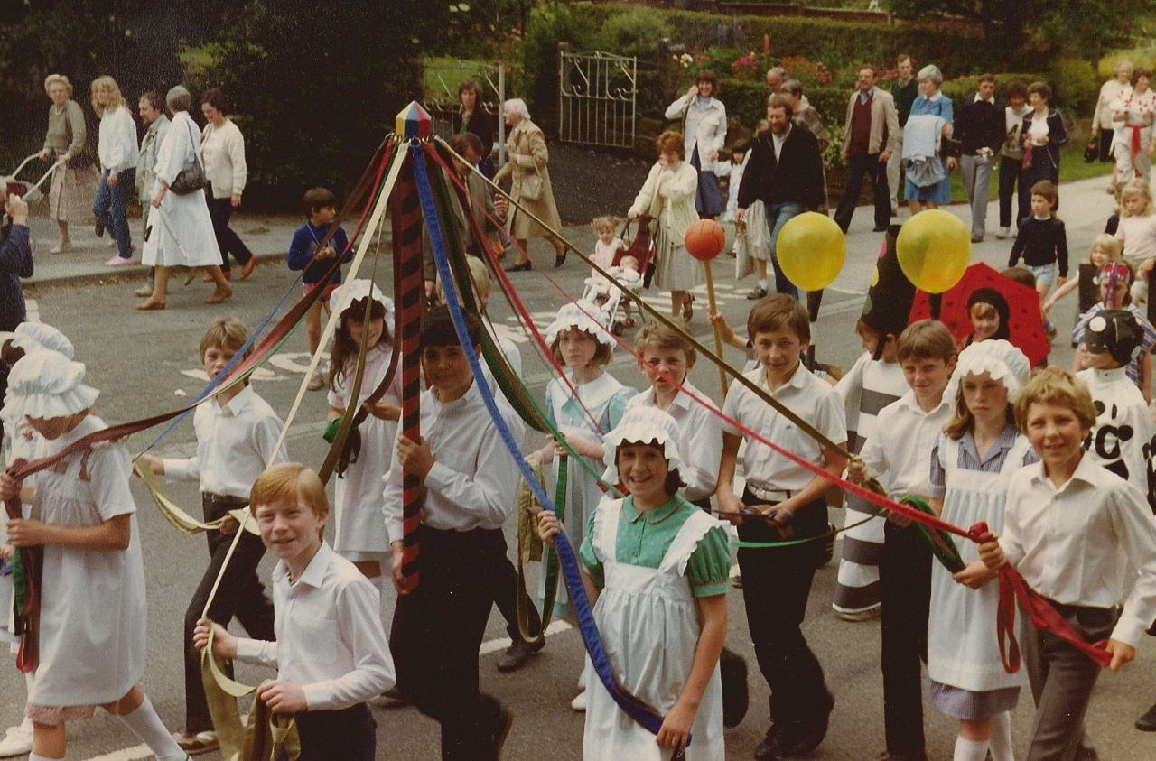 Christleton Maypole Team 1980's