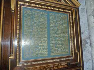 Christchurch Priory War Memorial