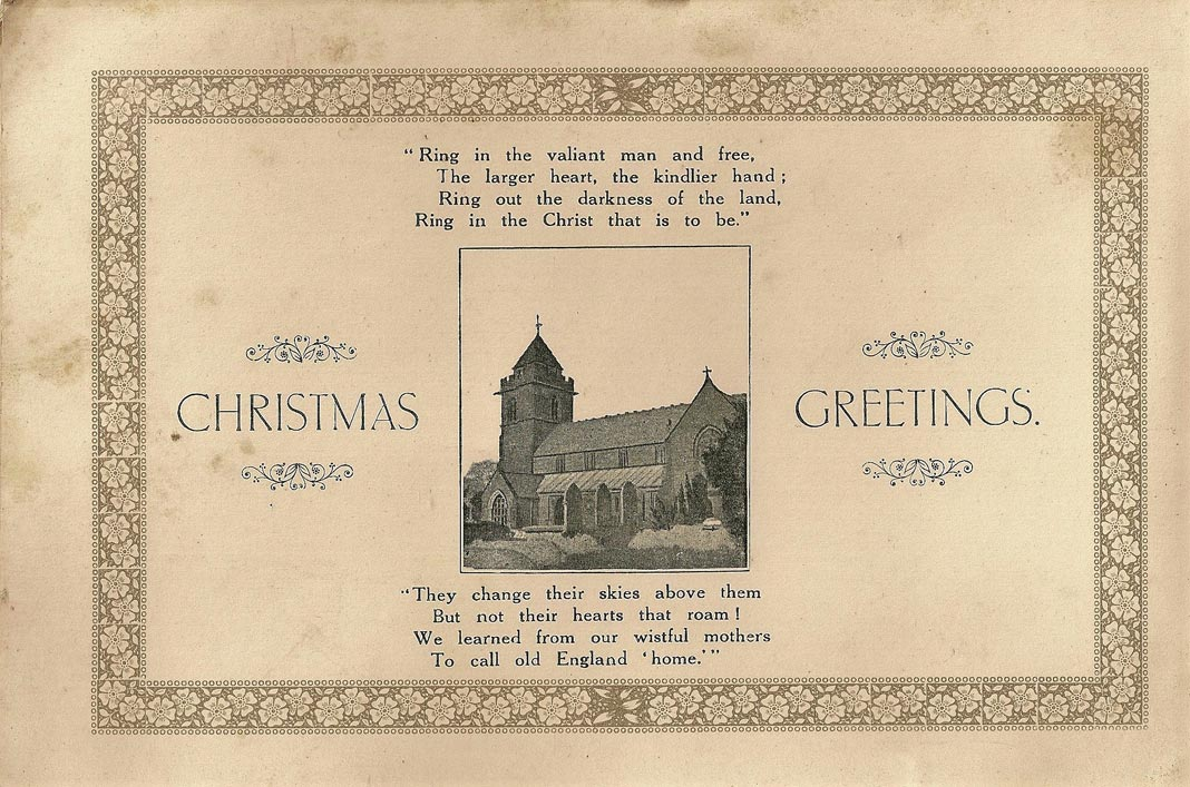 WWI Christmas card from Chirstleton
