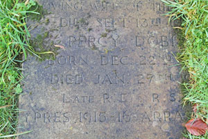 Grave of Percy Dobie