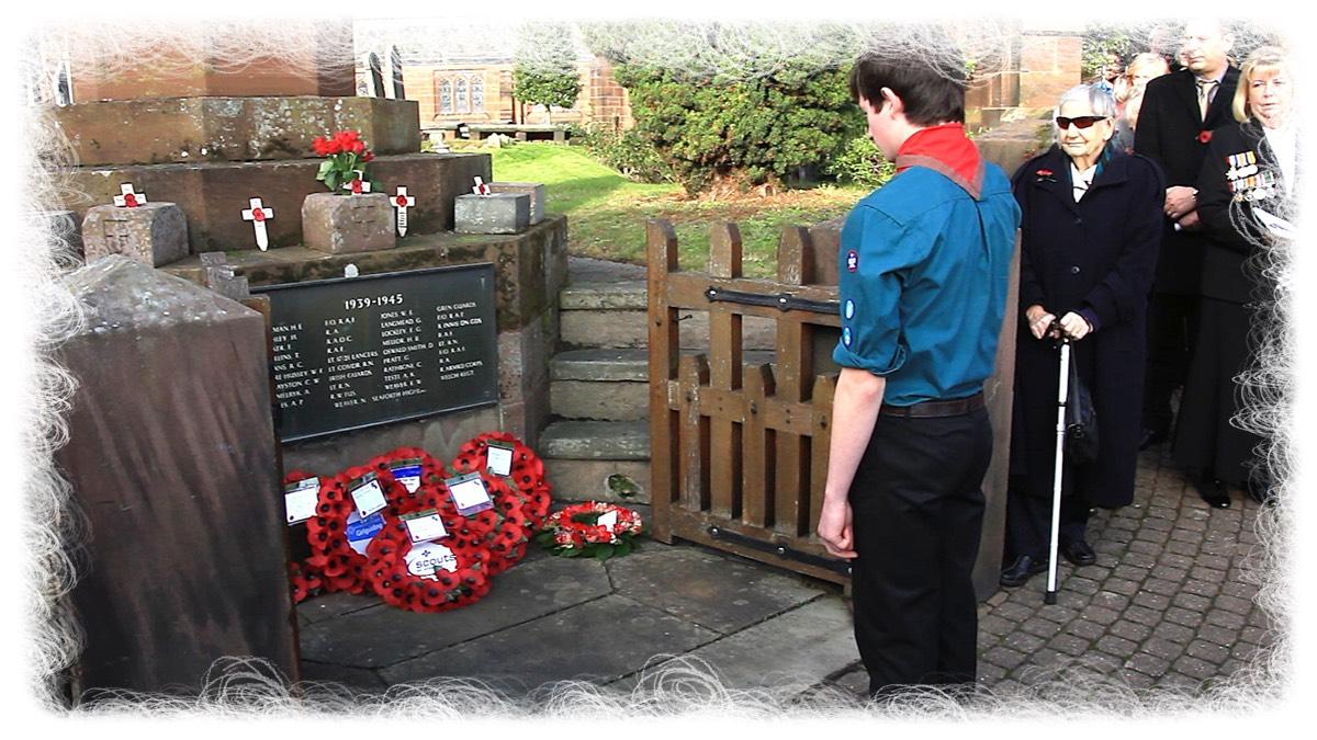 Remembrance at Christleton Memorial