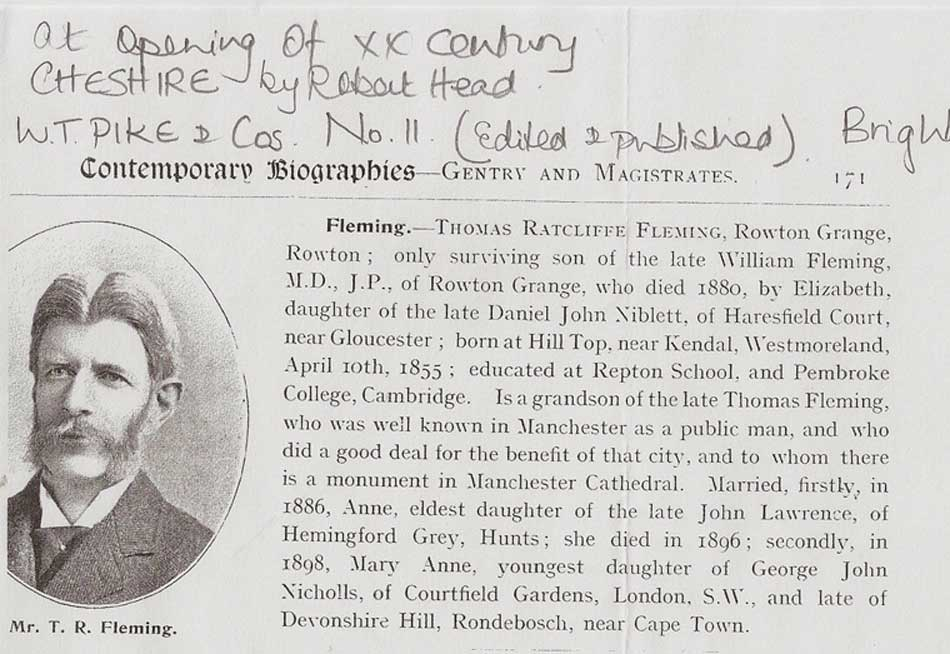 T. R.Fleming Rowton Grange
